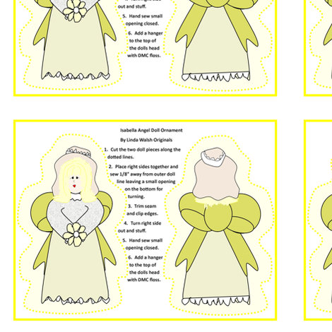 Isabella Angel Cut and Sew Doll Ornament fabric by lworiginals on Spoonflower - custom fabric