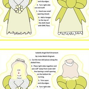 Isabella Angel Cut and Sew Doll Ornament