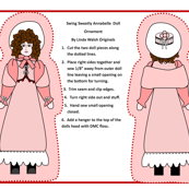 Swing Sweetly Annabelle Cut and Sew Doll Colonial Ornament