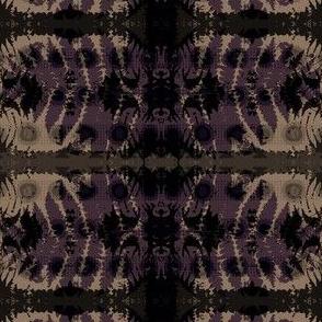 Fern leaf in purple & beige