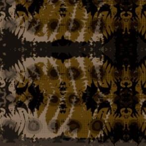 Fern leaf in brown V