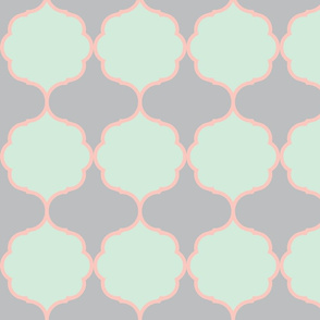 Hexafoil Mint Coral Gray