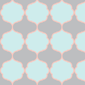 Hexafoil BlueMint Coral Gray