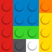 Building bricks fabric - Medium