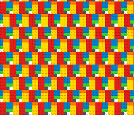 Building Bricks - Medium fabric by designedbygeeks on Spoonflower - custom fabric