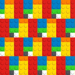 Building bricks fabric - Medium