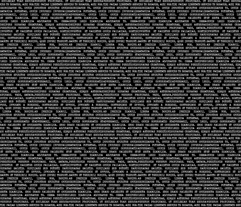 Exorcism - Small White on Black fabric by designedbygeeks on Spoonflower - custom fabric