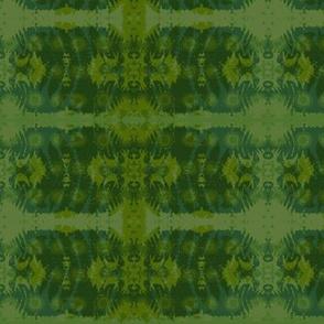 Fern leaf in green & blue