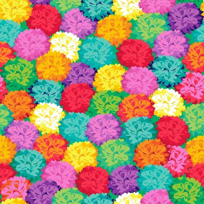 Field of Poms