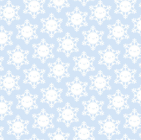 Kawaii Winter Snowflakes fabric by marcelinesmith on Spoonflower - custom fabric