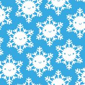 Kawaii Winter Snowflakes (Blue Sky)