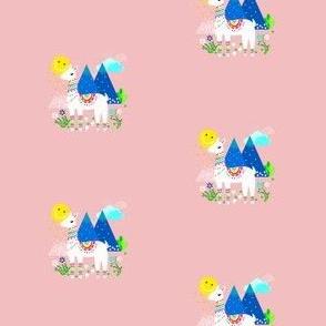Mini Llama / Alpaca in Pink