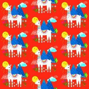 Llama in Red