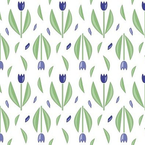 Graphic tulips Blue