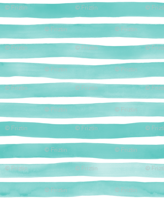 Watercolor Stripes M+M Aqua by Friztin