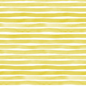 Apple Green Watercolor Stripes by Friztin