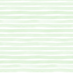 Watercolor Stripes M+M Mint by Friztin