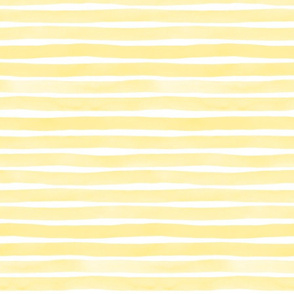 Yellow Watercolor Stripes by Friztin
