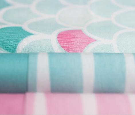Bubblegum Pink Watercolor Stripes by Friztin
