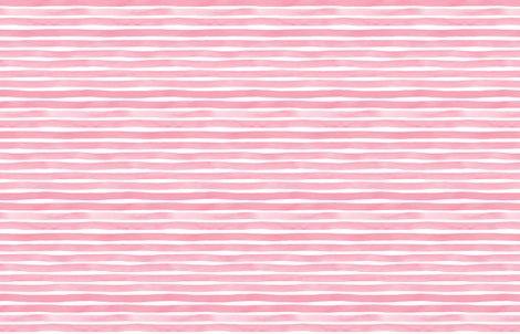 Bubblegum Pink Watercolor Stripes By Friztin Wallpaper