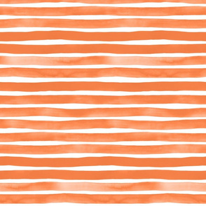 Tangerine Watercolor Stripes by Friztin