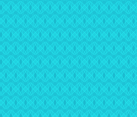 Waves_Aqua fabric by gilly_flower_studio on Spoonflower - custom fabric