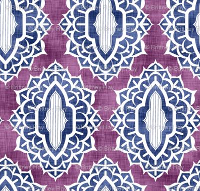 Arabesque Medallions Blue