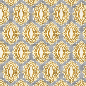Arabesque Medallions Gold
