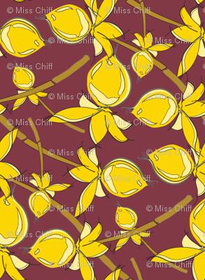 Gold Maroon Lattice_Miss Chiff Designs