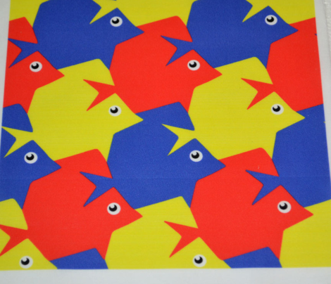 Tesselating Fish Primary Colors