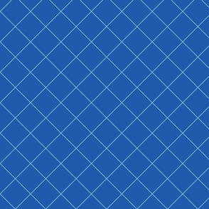 Blue Grid Diagonal