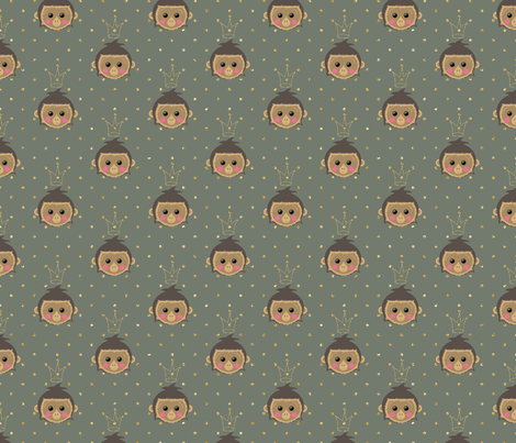 Monking fabric by un_temps_de_coton on Spoonflower - custom fabric