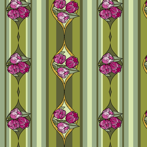stain_glass_tulips_strip_Ba fabric by khowardquilts on Spoonflower - custom fabric