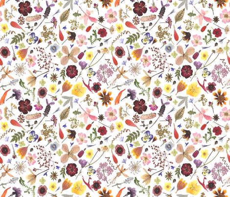 multi flowers fabric by mypetalpress on Spoonflower - custom fabric