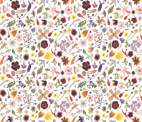multi flowers fabric by mypetalpress on Spoonflower - custom fabric