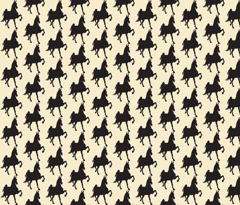 HOT TO TROT (beige-blk) fabric by redmares on Spoonflower - custom fabric