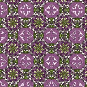 Kaleidoscope Cross-purples/whites