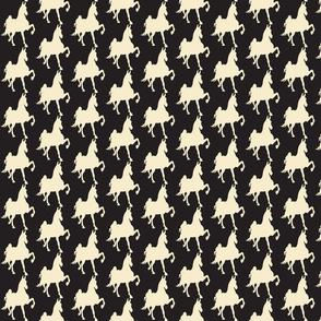 HOT TO TROT (blk-beige)-ch