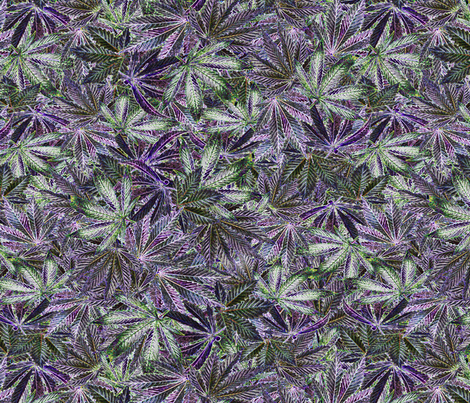 Indica Leaf Shiny fabric by camomoto on Spoonflower - custom fabric