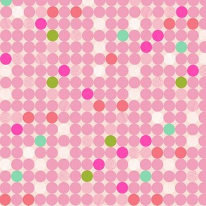 Dots in pink