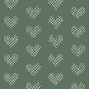 sweet hearts - sage greens reverse
