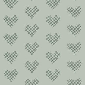 sweet hearts - sage greens