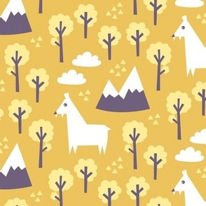 Musk deer forest yellow