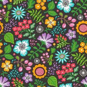 Bohemian Botanical Flowers Floral