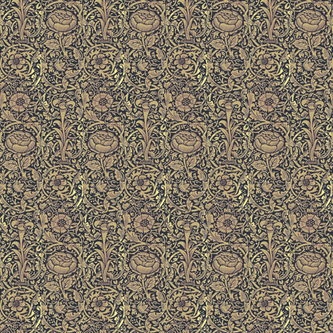 Morris Lily Copper fabric by amyvail on Spoonflower - custom fabric