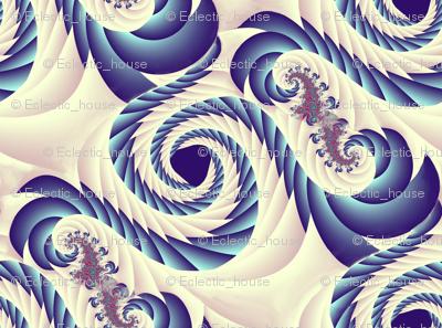 Blueberry Whipped Cream Swirls