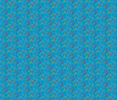 Colourful Art - Blue fabric by desiloopbyssk on Spoonflower - custom fabric