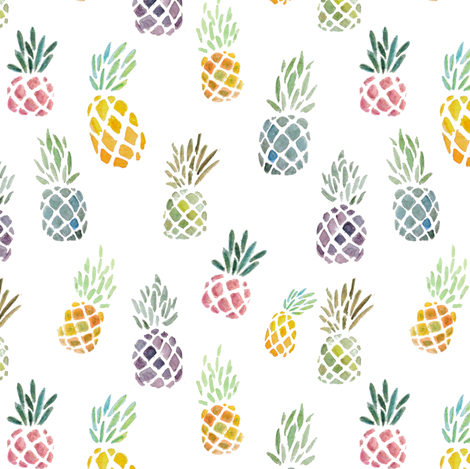 Candy Pineapple fabric by tanaudel on Spoonflower - custom fabric