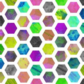 Hexagons in White
