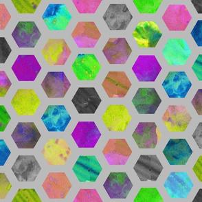 Hexagons in Grey